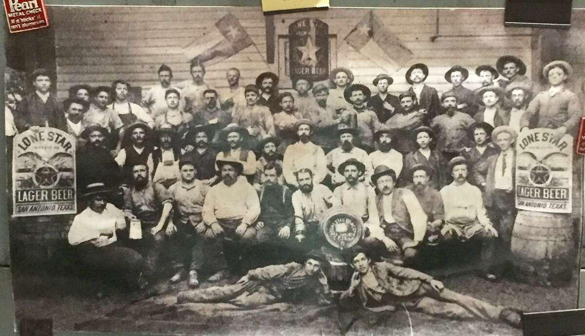 Men at the Lone Star Brewing Company, circa 1890.