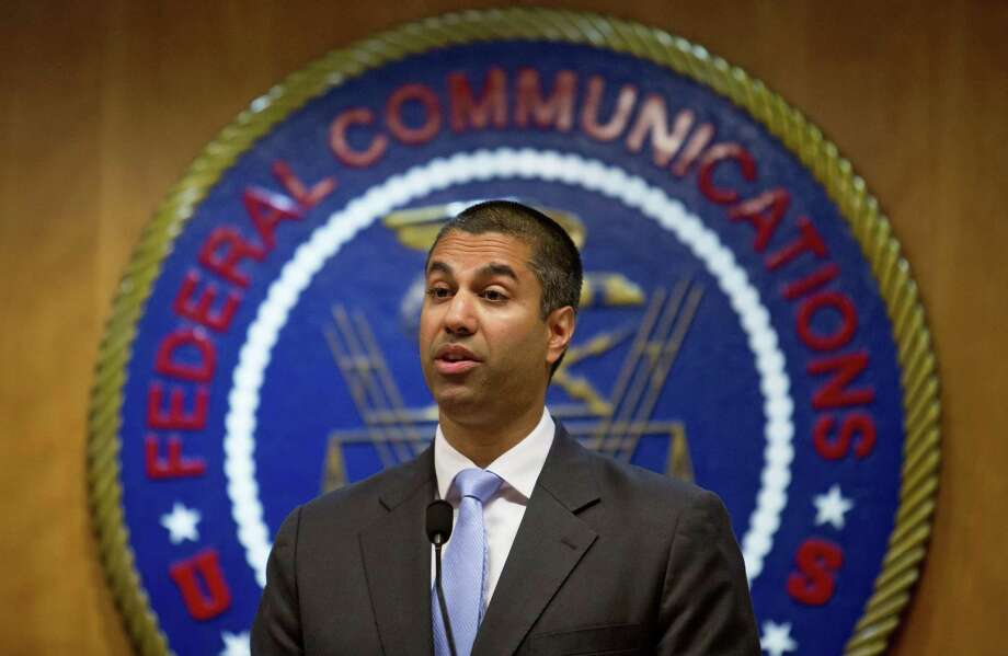 Ajit Pai, chairman of the Federal Communications Commission, announced on Nov. 21 that it planned to dismantle landmark regulations that ensure equal access to the internet, clearing the way for companies to charge more and block access to some websites. Photo: ERIC THAYER /NYT / NYTNS