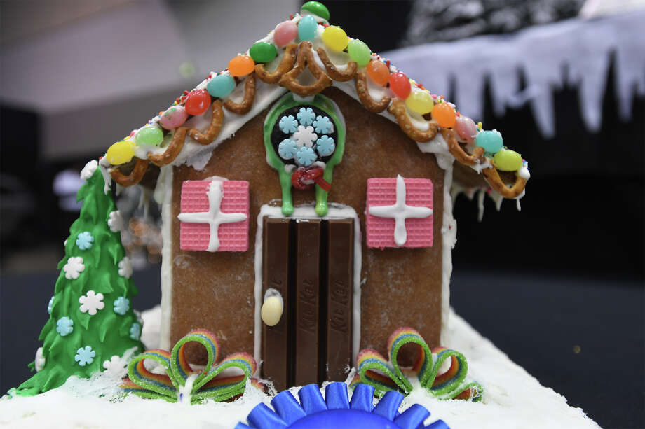 One of several entries in the Junior League of Beaumont's 2017 gingerbread homes competition. The homes are on display at the Main Street Market in Beaumont. Photo taken Friday, December 01, 2017 Guiseppe Barranco/The Enterprise Photo: Guiseppe Barranco, Photo Editor / Guiseppe Barranco ©