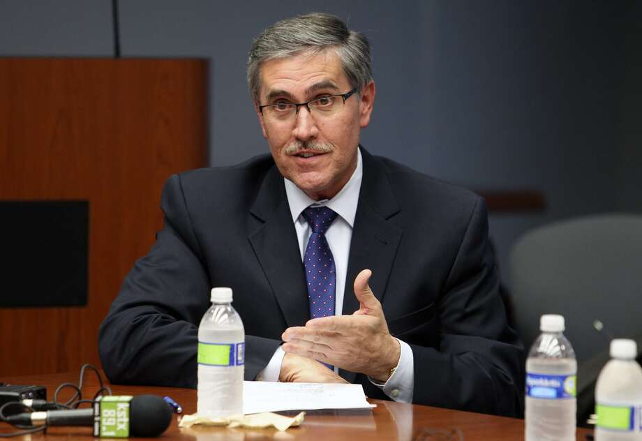 File photo of former Deputy City Manager Pat DiGiovanni testifying in 2012 before an ethics review board to examine whether he violated the city ethics code when he served on a committee evaluating Zachry Corporation for a city contract. DiGiovanni was recently forced to resign from Centro San Antonio after a staff accountant allegedly embezzled $175,000. Photo: Tom Reel /San Antonio Express-News / ©2012 San Antono Express-News