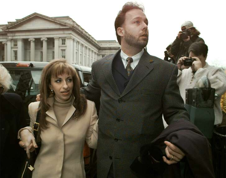 Before there was Harvey Weinstein, there was Bill Clinton and Paula Jones, who accused him of sexual harassment. She wasn't believed. Perhaps she should have been. Here, she and and husband Stephen Jones arrive at the offices of President Clinton's personal attorney, Robert Bennett Jan. 17, 1998 in Washinton.