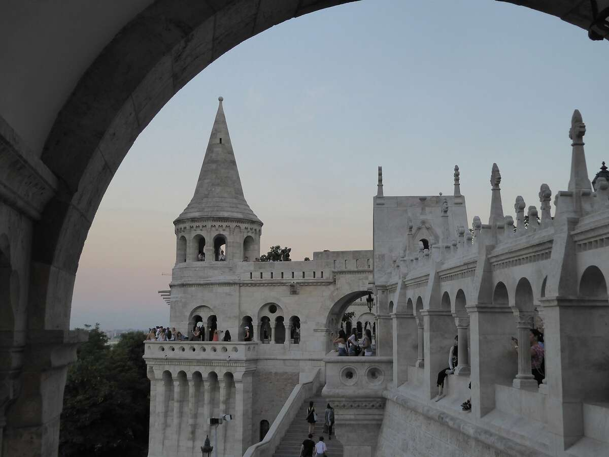 The Halaszbastya (Fisherman's Bastion) is a popular attraction on the Buda bank of the Danube, on the Castle hill in Budapest.