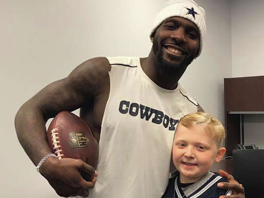 Nine-year-old Brock Gumm got to hangout with Dez Bryant and the Cowboys Thursday night.Browse through the photos to see how Brock Gumm spent his Thursday night at the Cowboys' game with his buddy Dez Bryant.Source: Facebook (Paige Gumm) Photo: Facebook (Paige Gumm)