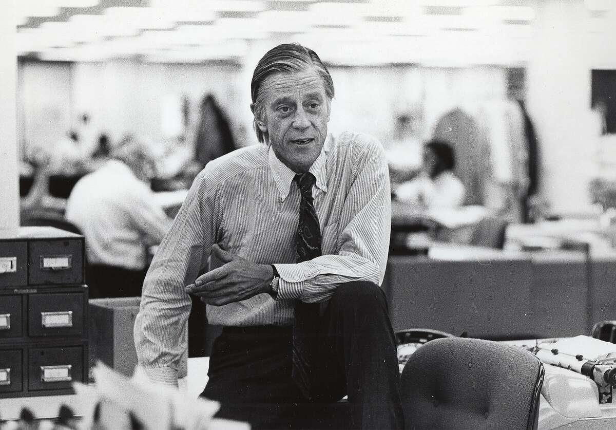 This undated photo provided by HBO shows former Washington Post Executive Editor Ben Bradlee in the newsroom in Washington. Weeks before the release of a Steven Spielberg movie about the Washington Post in the 1970s, an HBO film examines the life of that newspaper�s legendary editor, Ben Bradlee. It has a strikingly contemporary feel, since the hostility Bradlee felt from the White House in the Nixon era is similar to the Trump administration today. (HBO via AP)
