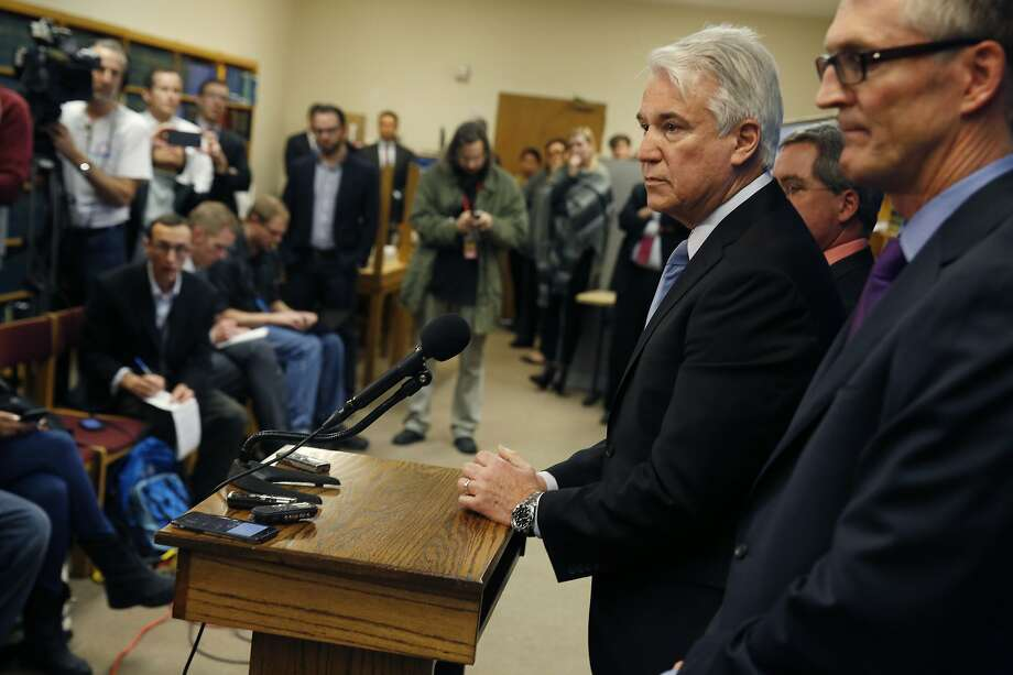 District Attorney George Gascón addresses a news conference in 2016, which he didn't do after the verdict. Photo: Lea Suzuki, The Chronicle