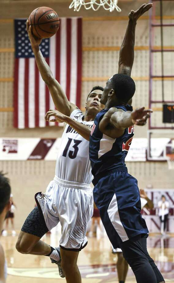 Xabier Gomez had 11 points, six rebounds and six turnovers Saturday as TAMIU fell to 0-2 in the Heartland Conference with an 84-64 loss at Dallas Baptist. Photo: Danny Zaragoza /Laredo Morning Times File