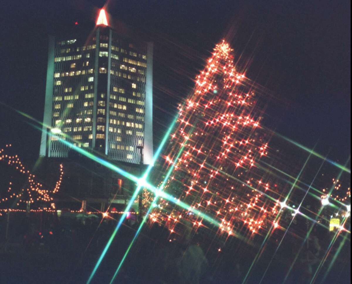 The annual tree lighting was held in Stamford's Latham Park on Dec. 4, 1996.