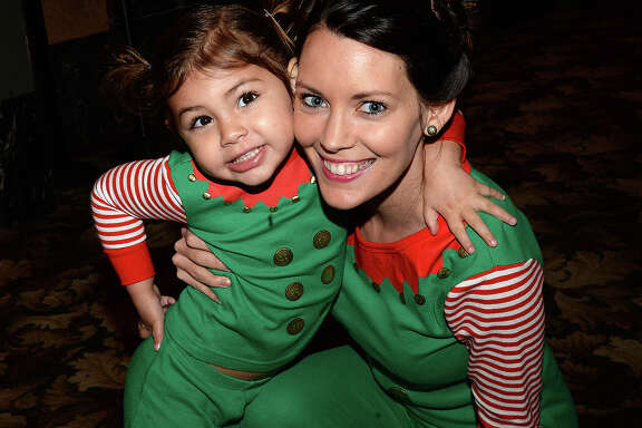 Savannah and Meagan Guidry were at Friday's classic movie night showing of Polar Express at the Jefferson Theatre. The show kicks off a Friday night series of holiday classics leading up to Christmas. Photo taken Friday, December 1, 2017 Kim Brent/The Enterprise