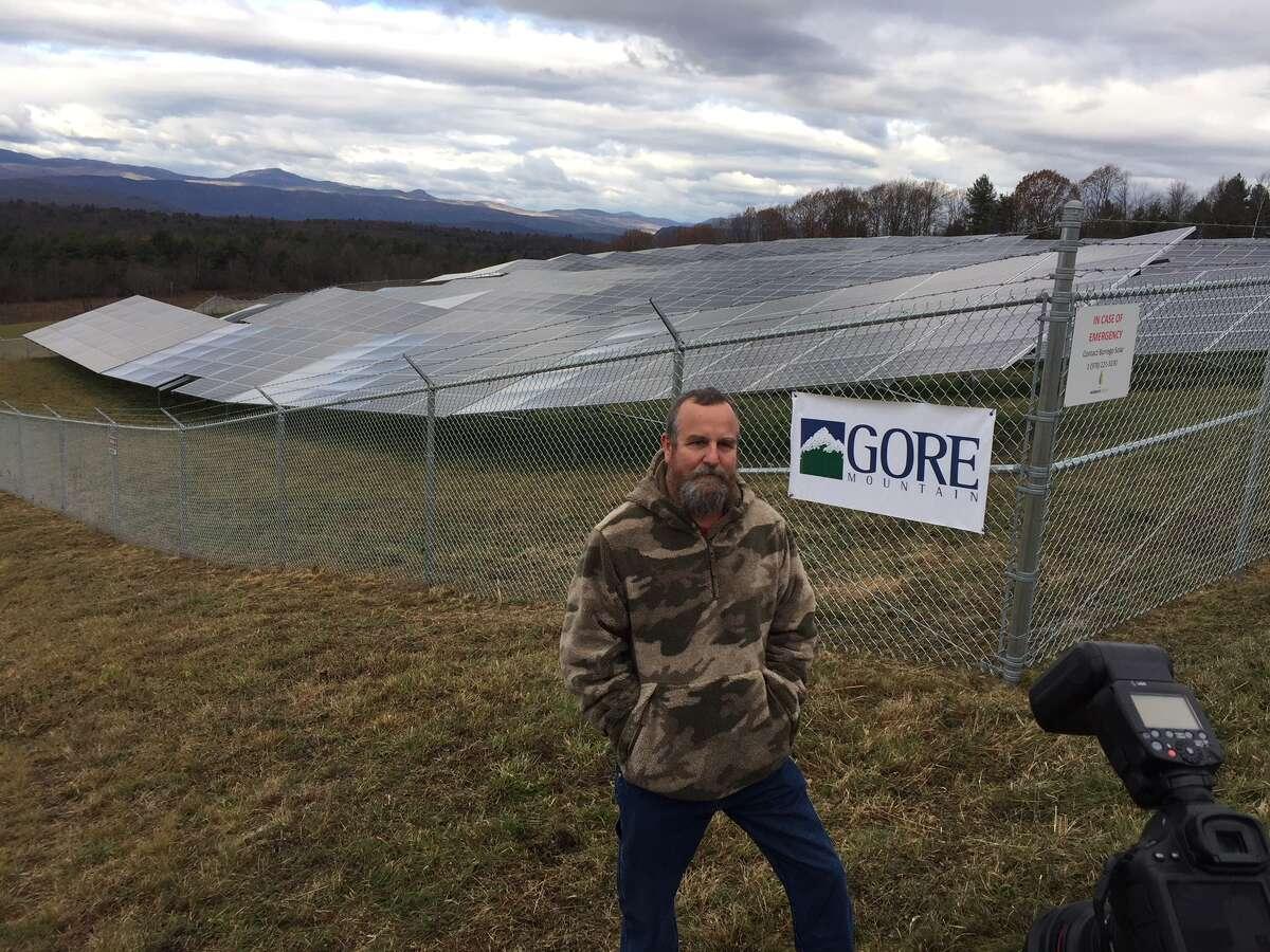 Gore's solar array is on a hay farm owned by John Millett Jr.