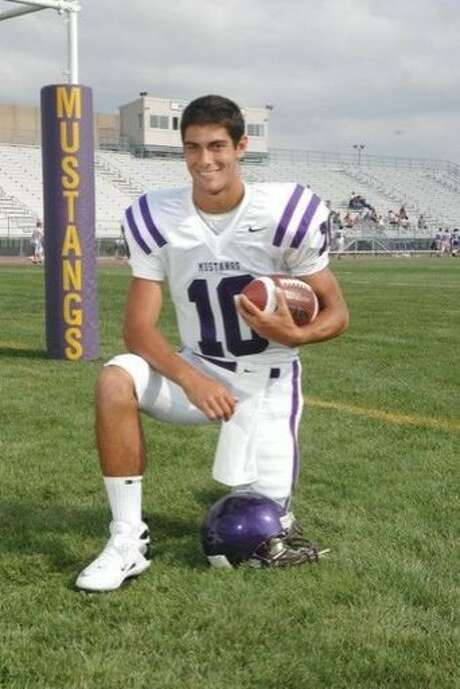 Jimmy Garoppolo during his senior year at Rolling Meadows High School. Photo: Rolling Meadows High School