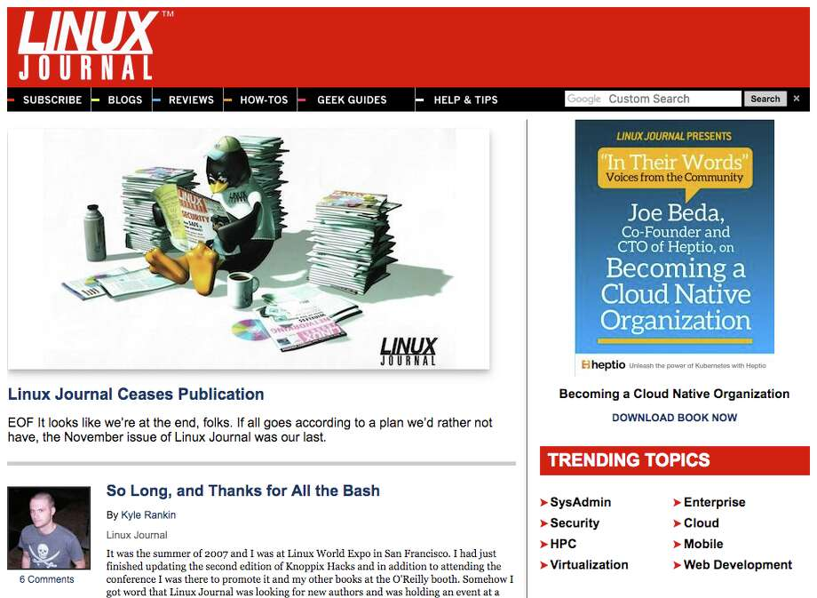 Linux Journal ceased publication on Dec. 1, 2017.
