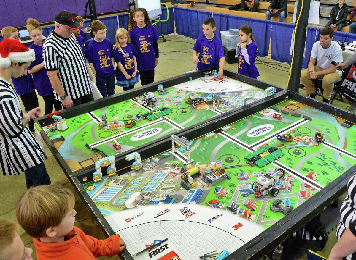 Ballston Spa Schools hosts the Hudson Valley FIRST LEGO League Qualifying Tournament Saturday Dec. 2, 2017 in Ballston Spa, NY. (John Carl D'Annibale / Times Union)