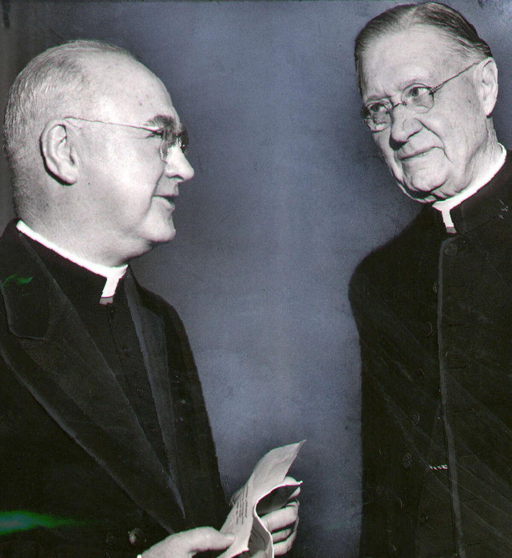 Francis Cardinal Spellman and Bishop Edmund F. Gibbons. 10/26/1951. -7- McBride.