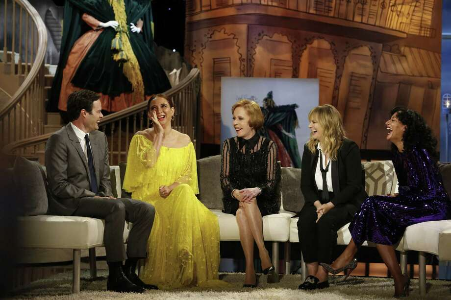 CBS celebrates the 50th anniversary of Carol Burnett\'s classic, award-winning comedy series with THE CAROL BURNETT 50TH ANNIVERSARY SPECIAL, a new two-hour star-studded event featuring Burnett, original cast members and special guests, on Sunday, Dec. 3 (8:00-10:00 PM, ET/PT) on the CBS Television Network. Pictured: Bill Hader, Maya Rudolph, Carol Burnett, Amy Poehler, Tracee Ellis Ross.   Photo: Cliff Lipson/CBS A?A©2017 CBS Broadcasting, Inc. All Rights Reserved Photo: Credit: Cliff Lipson / ©2017 CBS Broadcasting, Inc. Credit: Cliff Lipson