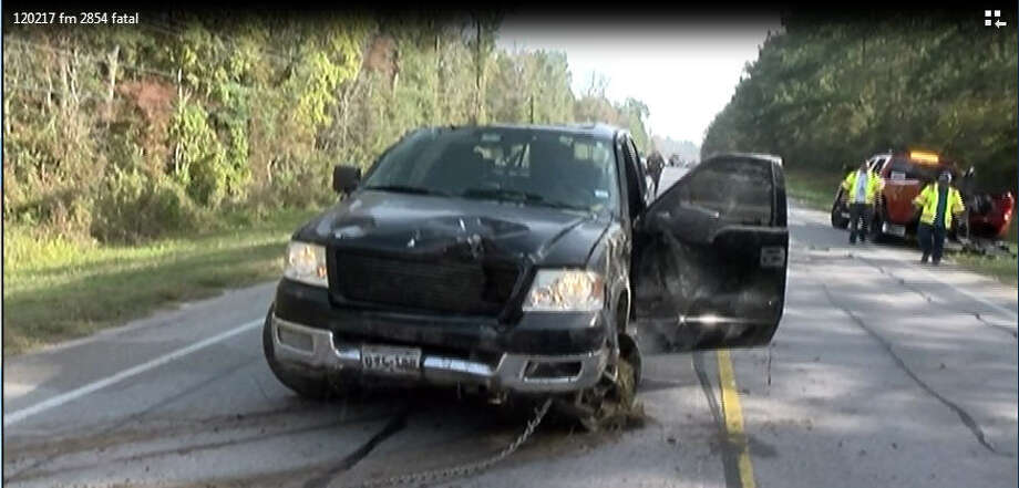 A man was found dead Saturday morning in an overturned pick-up truck near a cemetery in Conroe, according to reports from the Montgomery County Police Reporter. The man's black Ford F150 was located around 8 a.m. off of FM 2854 upside down in a creek bed. Photo: Montgomery County Police Reporter