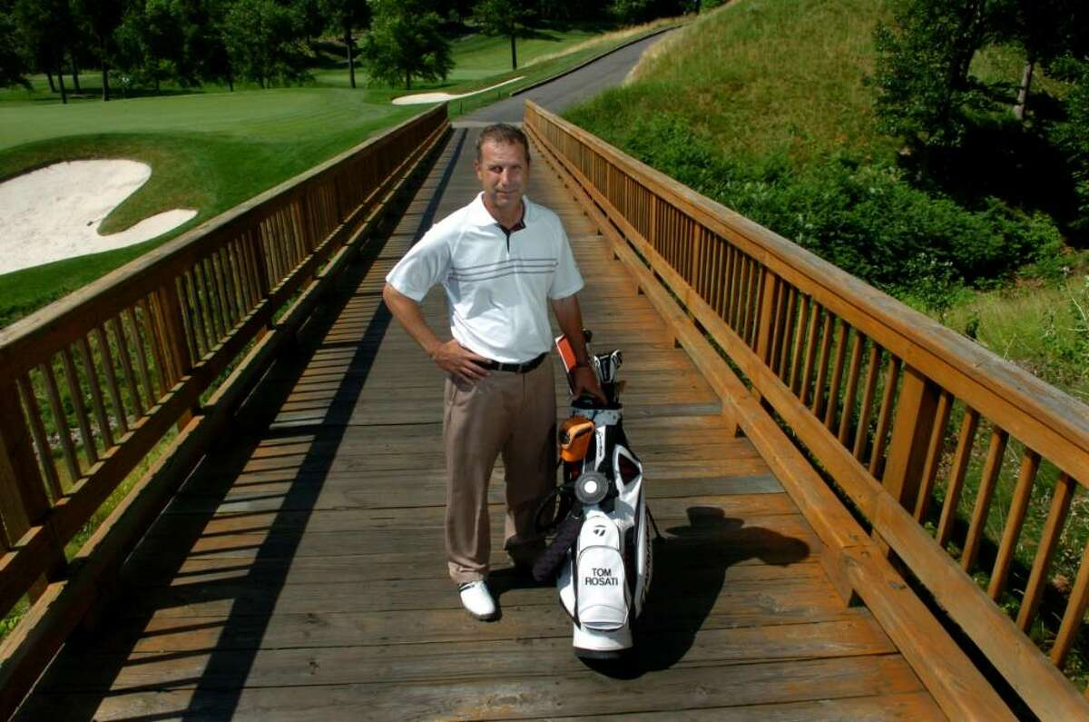 """Tom Rosati, 45, Milford, Great River Golf Club's Head PGA Golf Professional: """"America is the land of opportunity. If you work hard, you can achieve anything you want."""""""