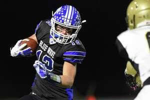 Darien defeated East Hartford 30-10 in a CIAC Class LL football quarterfinal championship game at Darien High School on Tuesday, Nov. 28, 2017 in Darein, Connecticut.