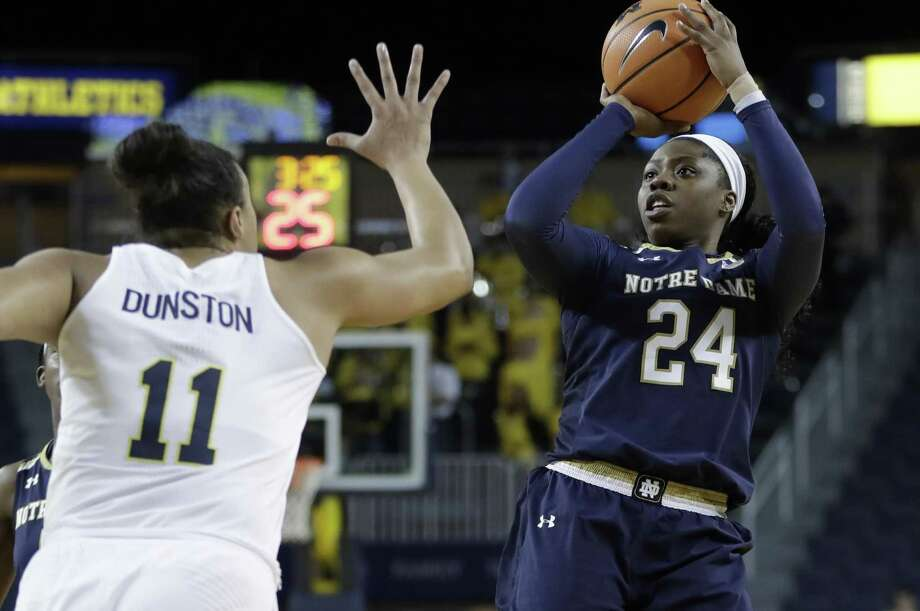 Notre Dame guard Arike Ogunbowale. Photo: Carlos Osorio / Associated Press / Copyright 2017 The Associated Press. All rights reserved.