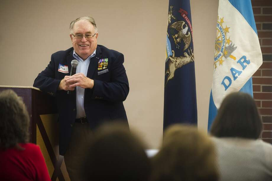 Fred Honerkamp speaks about his service in the Vietnam War during an event commemorating Vietnam veterans on Friday at the Greater Midland Community Center. (Katy Kildee/kkildee@mdn.net) Photo: (Katy Kildee/kkildee@mdn.net)