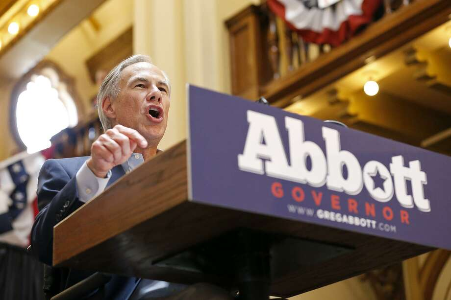 Gov. Greg Abbott announced in July at Sunset Station that he will run for re-election. Photo: Edward A. Ornelas /San Antonio Express-News / © 2017 San Antonio Express-News