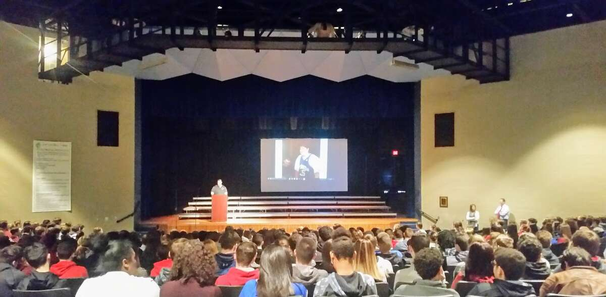 Michael Olivieri shares his story about overcoming childhood adversity and a message of hope to at-risk teens. (Submitted photo)