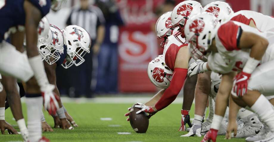PHOTOS: A look at the this weekend's playoff gamesA view down the line of scrimmage as the Katy Tigers attempt a field goal during the high school football playoff game between the Atascocita Eagles and the Katy Tigers at NRG Stadium in Houston, TX on Saturday, December 1, 2017.Browse through the photos for the best shots from this weekend's high school football playoff games. Photo: Tim Warner/For The Chronicle