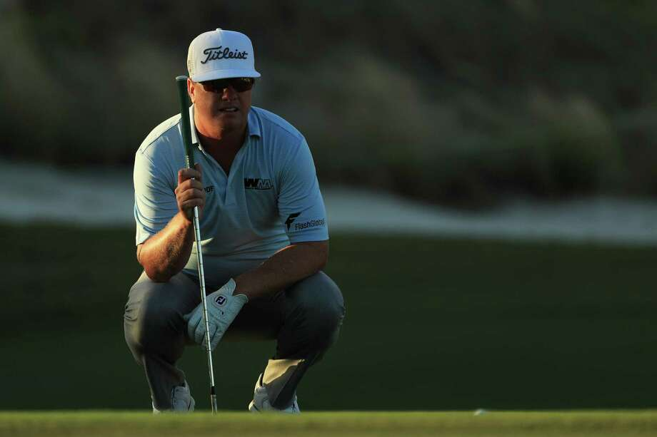 NASSAU, BAHAMAS - DECEMBER 02:  Charley Hoffman of the United States prepares to play a shot on the 17th hole during the third round of the Hero World Challenge at Albany, Bahamas on December 2, 2017 in Nassau, Bahamas.  (Photo by Mike Ehrmann/Getty Images) Photo: Mike Ehrmann, Staff / 2017 Getty Images