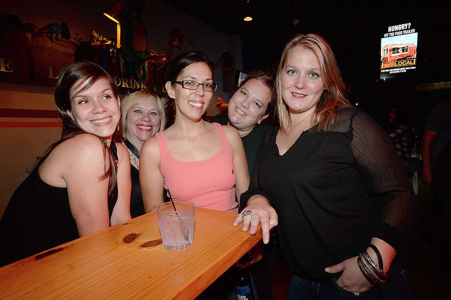 Ashley Frank, Leslie Bertrand, Nicole Martinez, Megan Arriaga, and Melissa Martinez were at the Beaumont Pub Crawl finale at Bar Local Saturday. Photo taken Saturday, December 2, 2017 Kim Brent/The Enterprise Photo: Kim Brent / BEN