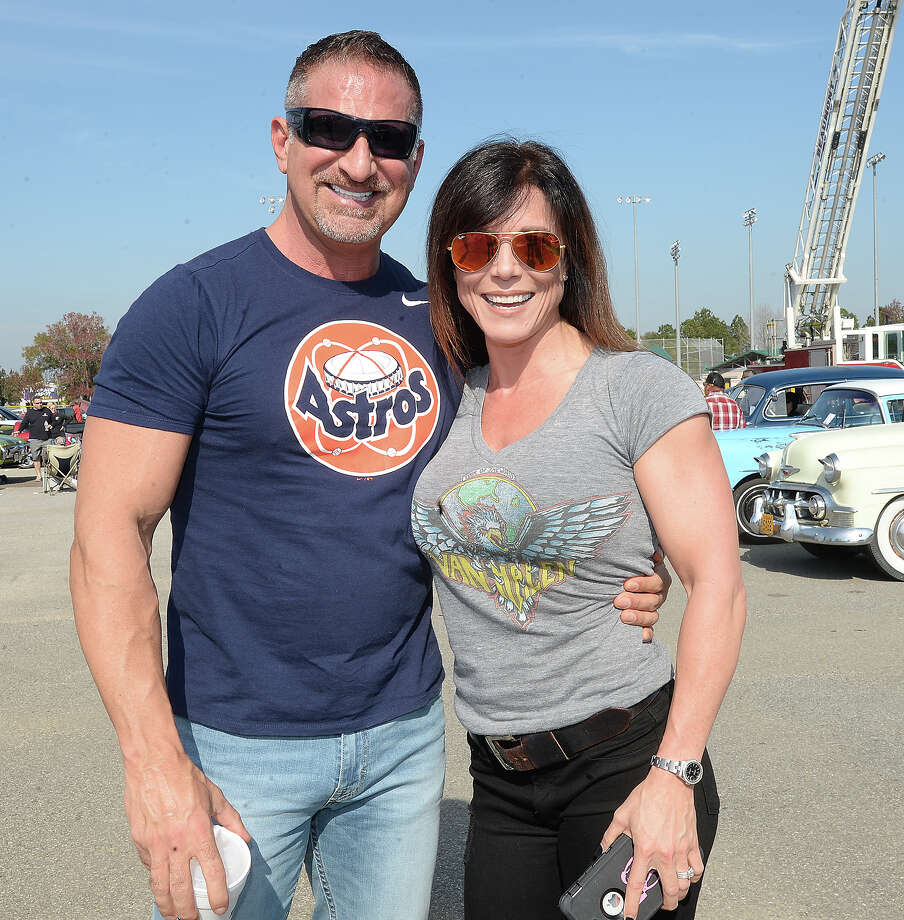 Chad and Heather Feldman were at the Bringing Back the Memories Car Show at the Beaumont Athletic Complex Saturday. The event is part of the Beaumont Police Department's Cops and Kids Program. Photo taken Saturday, December 2, 2017 Kim Brent/The Enterprise Photo: Kim Brent / BEN
