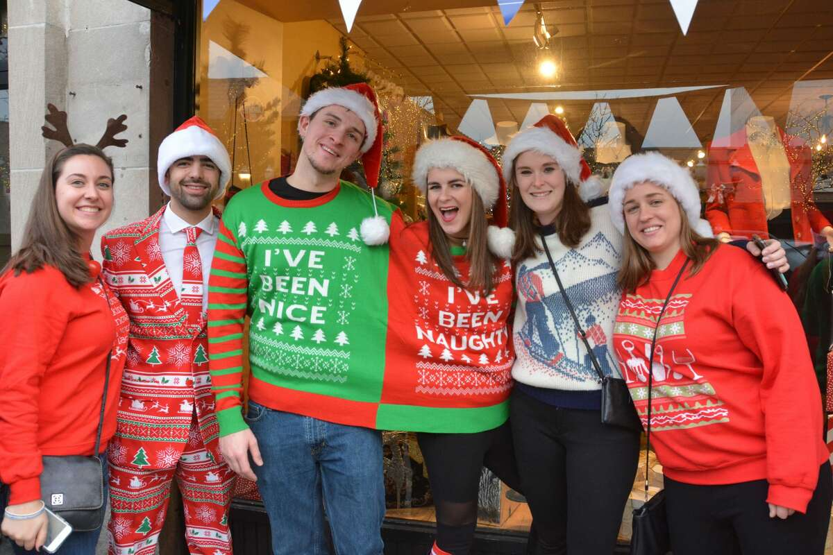 The conjoined twins sweater and the sleek holiday business suit Santas swarmed the streets of Stamford during the annual SantaCon bar crawl on December 2, 2017. Revelers dressed in holiday garb took advantage of drink specials at participating bars. Were you SEEN? Click here to find out.