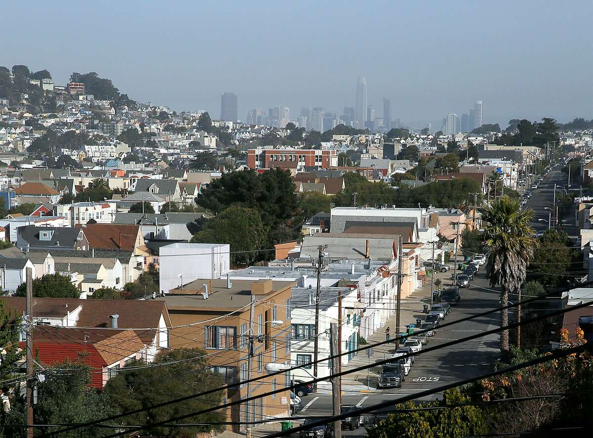 Overview of the Excelsior neighborhood on France at Italy streets on Friday, December 1, 2017, in San Francisco, Calif.