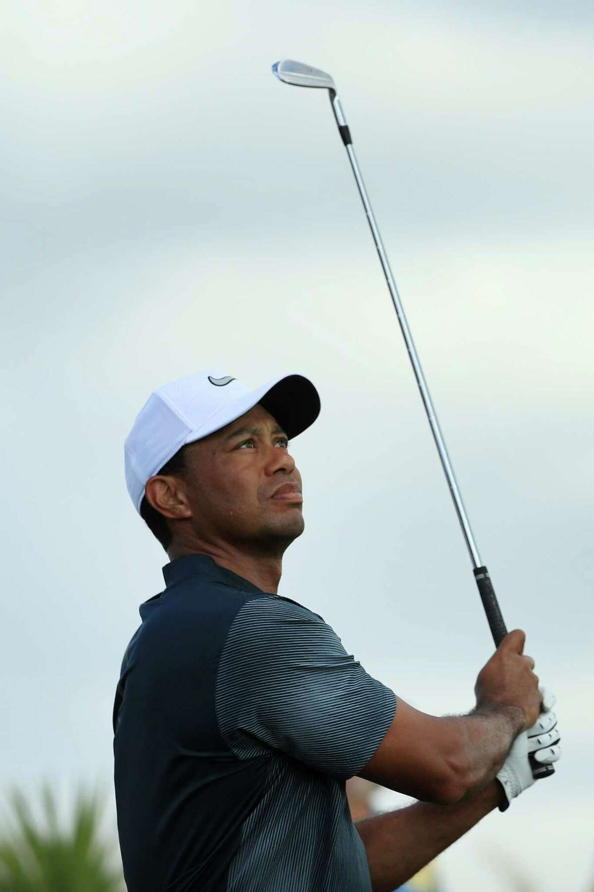NASSAU, BAHAMAS - DECEMBER 02: Tiger Woods of the United States plays his shot from the second tee during the third round of the Hero World Challenge at Albany, Bahamas on December 2, 2017 in Nassau, Bahamas. (Photo by Mike Ehrmann/Getty Images) ORG XMIT: 775055560