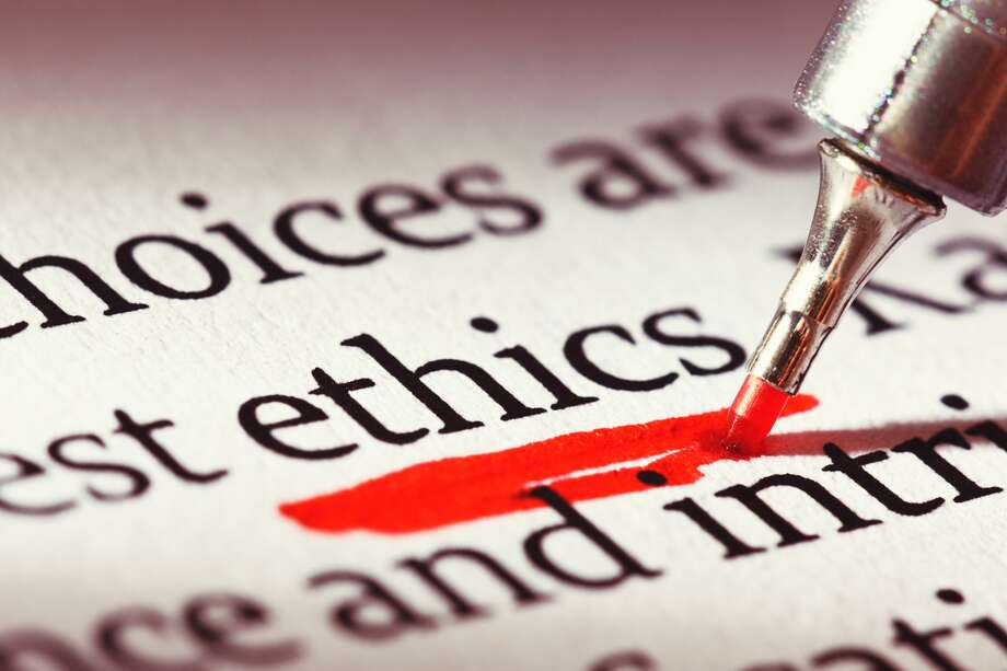 In this file photo, a highlighter underlines the word 'ethics' heavily in a business document or textbook. Photo: RapidEye/Getty Images