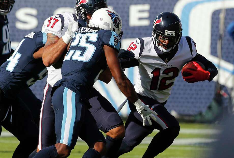 Bruce Ellington (12) was among a half-dozen Texans who were knocked out of Sunday's loss at Tennessee because of injury. Photo: Brett Coomer, Houston Chronicle / © 2017 Houston Chronicle