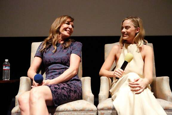 Allison Janney and Margot Robbie discuss their roles in the film I, Tonya during a Q&A after a special screening in San Rafael on Saturday, December 2, 2017 in San Rafael, California.