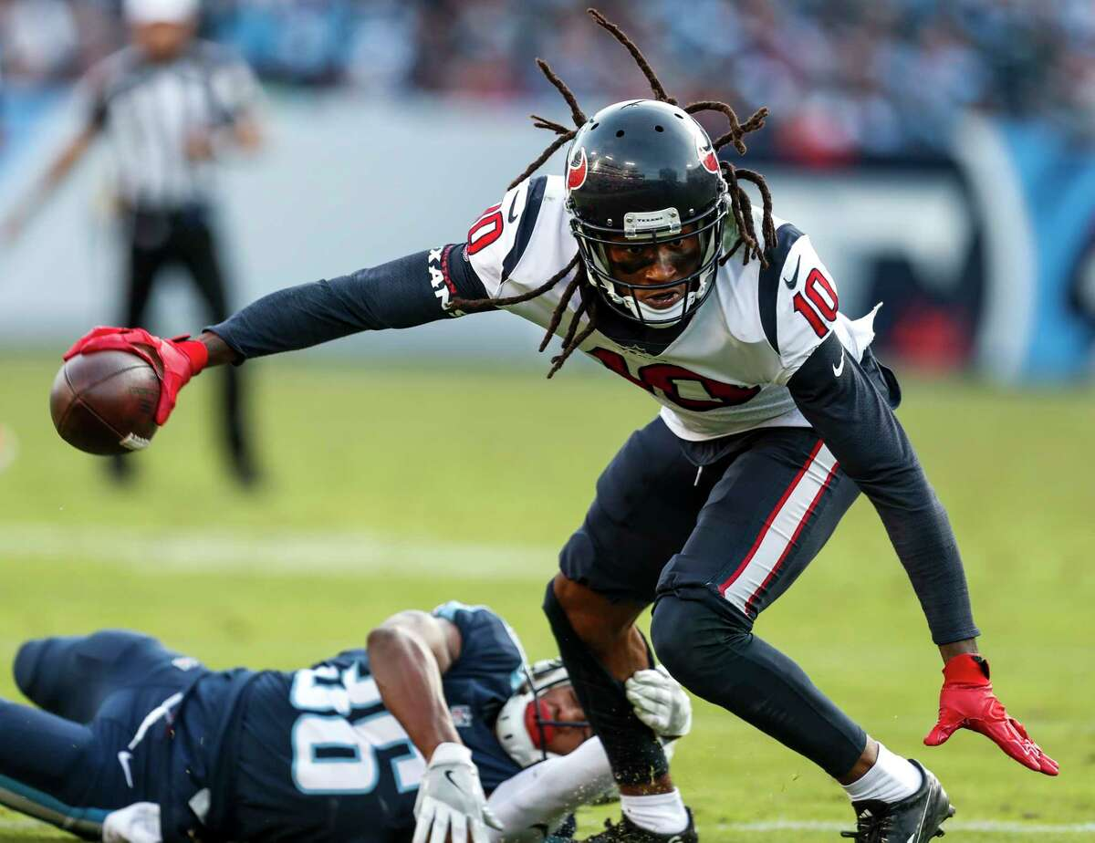 JOHN McCLAIN GRADES THE TEXANS Wide receiver/tight end After losing C.J. Fiedorowicz, Bruce Ellington and Braxton Miller, they were left with DeAndre Hopkins, Stephen Anderson and Chris Thompson. Hopkins finished with eight catches for 80 yards and Anderson five for 79. Grade: B