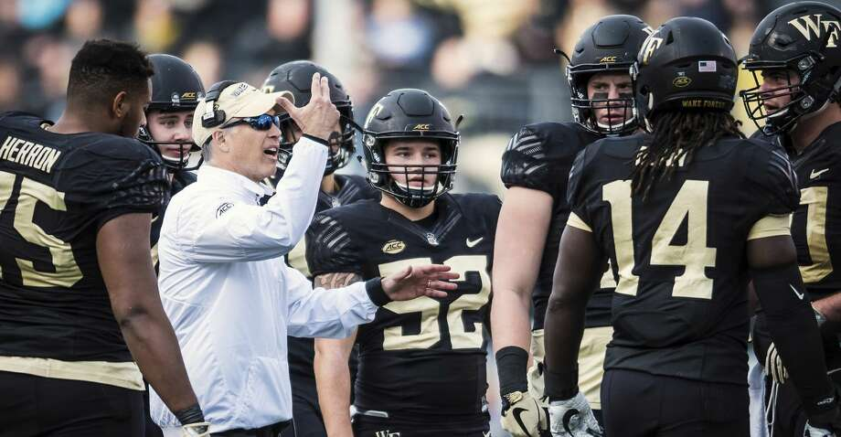 The Aggies face coach Dave Clawson's Wake Forest squad in the Belk Bowl. Photo: Allison Lee Isley/Associated Press