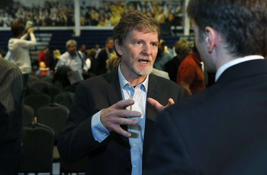 Jack Phillips, a baker in Colorado, says he should not be compelled to create a cake for a gay couple's wedding. Photo: David Zalubowski, Associated Press