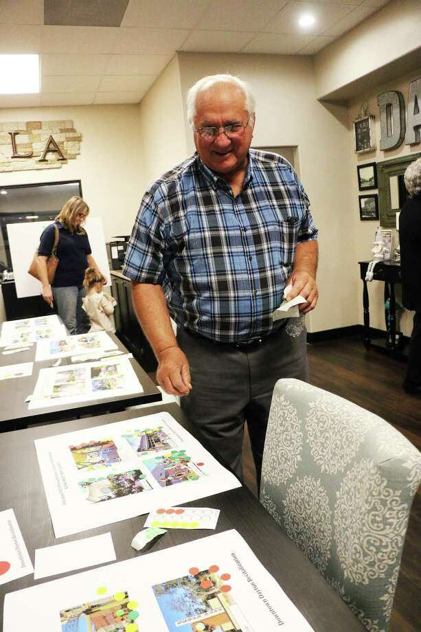 Former Dayton mayor Felix Skarpa and his wife were on hand to voice their opinion on what they hoped the downtown area would look like when all was said and done. Photo: David Taylor