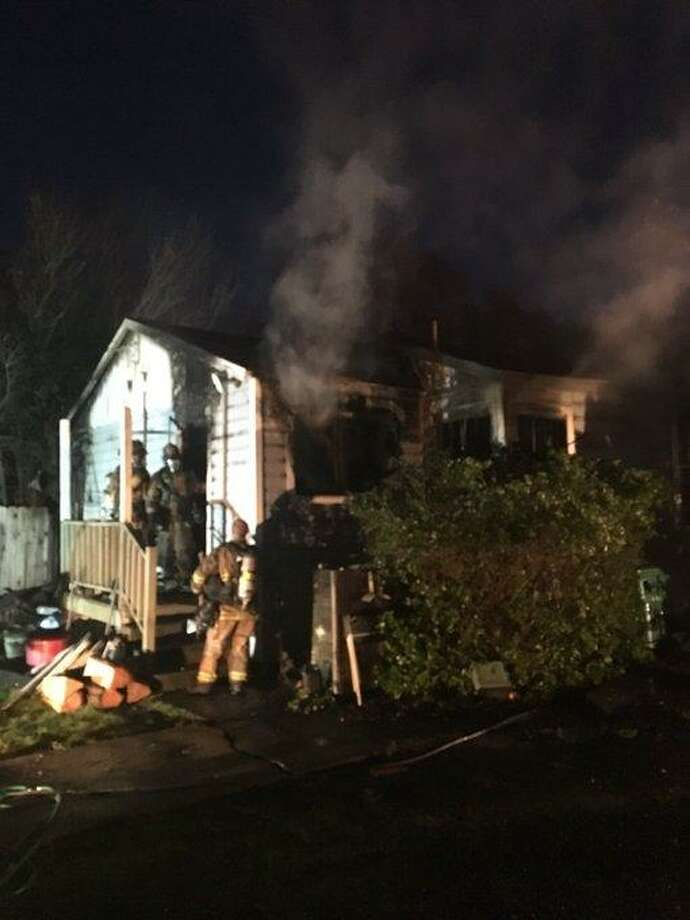 A house fire in El Sobrante injured a resident and a firefighter Sunday evening, officials said. Photo: Contra Costa County Fire Protection District