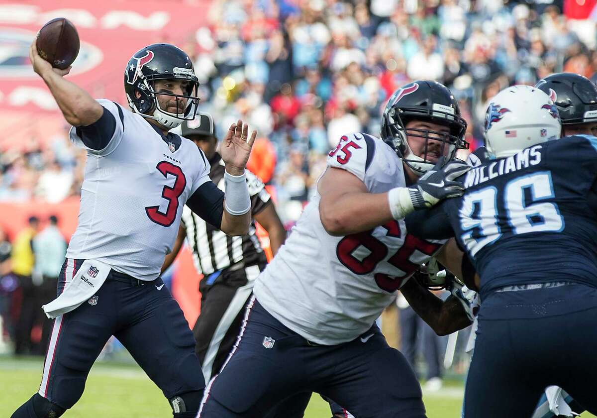 Texans quarterback Tom Savage threw for a career-high 365 yards on Sunday, but he was foiled by his lone turnover, a fourth-quarter interception with a little more than a minute remaining.