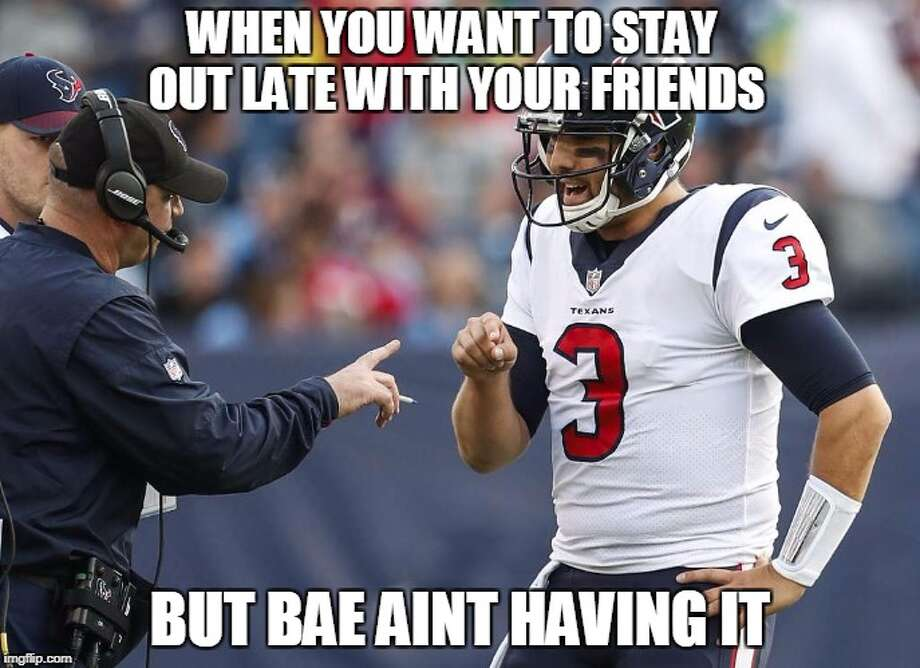 Source:Demetrio Teniente (Photo: Brett Coomer)Browse through the photos for a look at the best memes from Week 13 in the NFL. Photo: Demetrio Teniente (Photo: Brett Coomer)