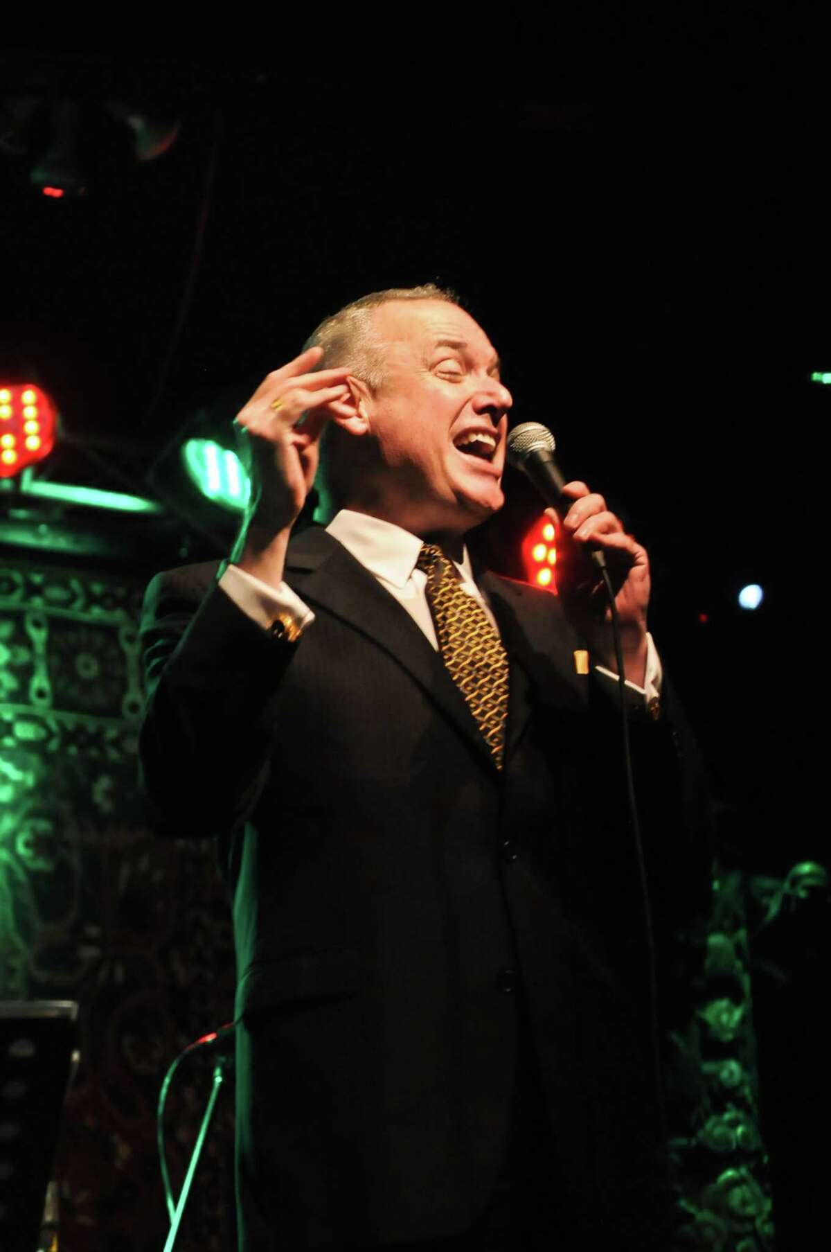 Jazz crooner Ken Slavin gives an annual holiday performance at Sam's Burger Joint.