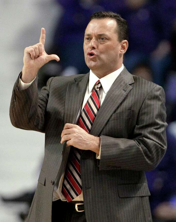 "FILE - This Feb. 7, 2012 file photo shows Texas Tech coach Billy Gillispie gesturing to his team during the first half of a college basketball game against Kansas State, in Manhattan, Kan. The Texas Tech athletic director says coach Gillispie is no longer making day-to-day decisions for the basketball program so he can focus on his health. Kirby Hocutt said Tuesday, Sept. 11, 2012,  that he told Gillispie late last week that he was not ""to engage"" in the program in ""any way"" until the two talk face to face about allegations of player mistreatment. (AP Photo/Charlie Riedel, File) Photo: Charlie Riedel / AP"
