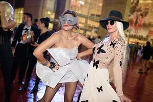 Fans attending the Lady Gaga World Tour at the Toyota Center in Downtown Houston on Sunday, December 3rd.