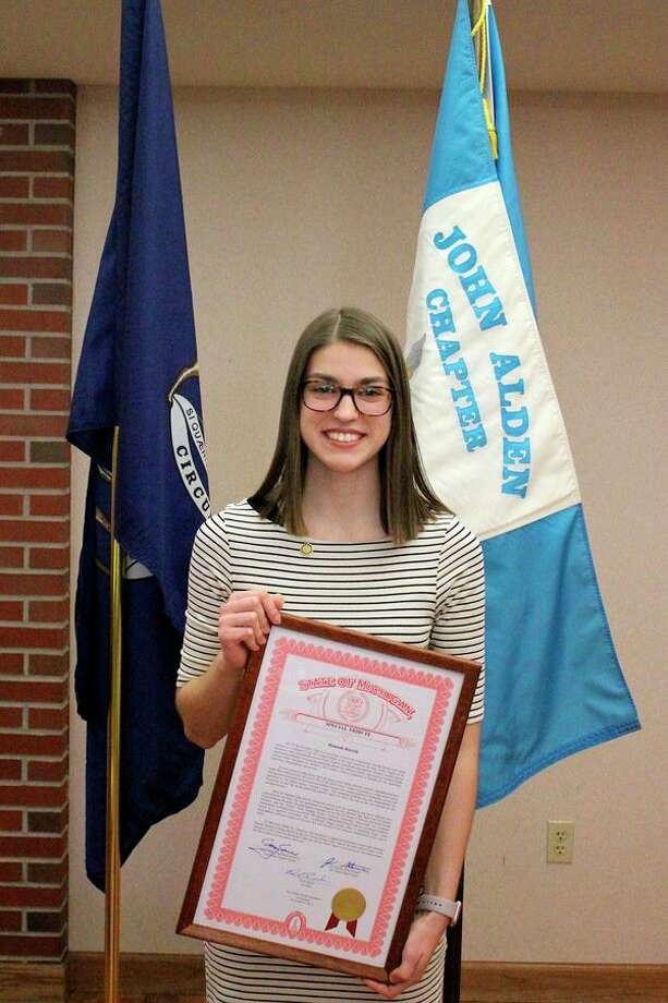 Hannah Bartels from Midland High School was chosen as the John Alden Chapter Good Citizen winner. (Photo provided)