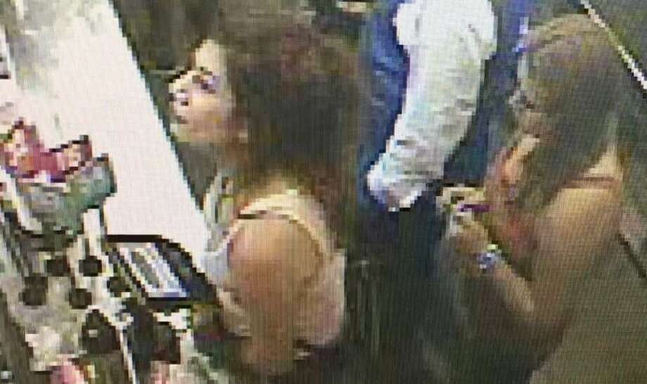 The suspects entered the Taco Cabana in the 6800 block of U.S. Highway 90 around 12:40 a.m. on Sunday, Oct. 1, and grabbed multiple beers from the restaurant's cooler. Photo: Crime Stoppers