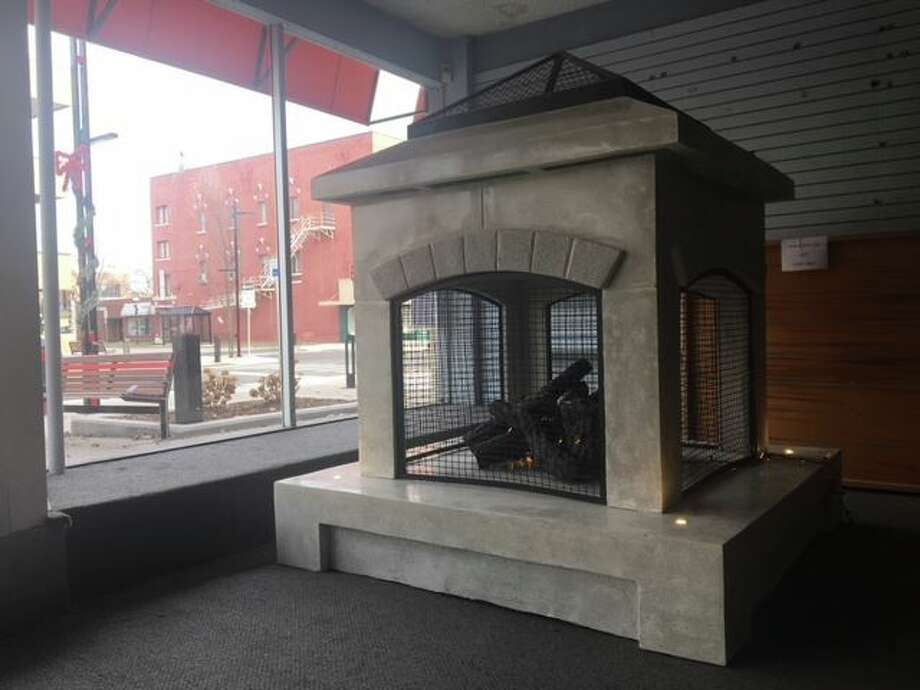 The City of Midland shared this image of a fireplace to be installed in downtown Midland following a fundraising campaign.