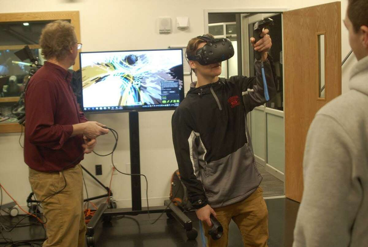 Over 70 high school seniors visited Middlesex Community College in Middletown to engage in a a workshop last month: 360-Degree Learning: VR Video.
