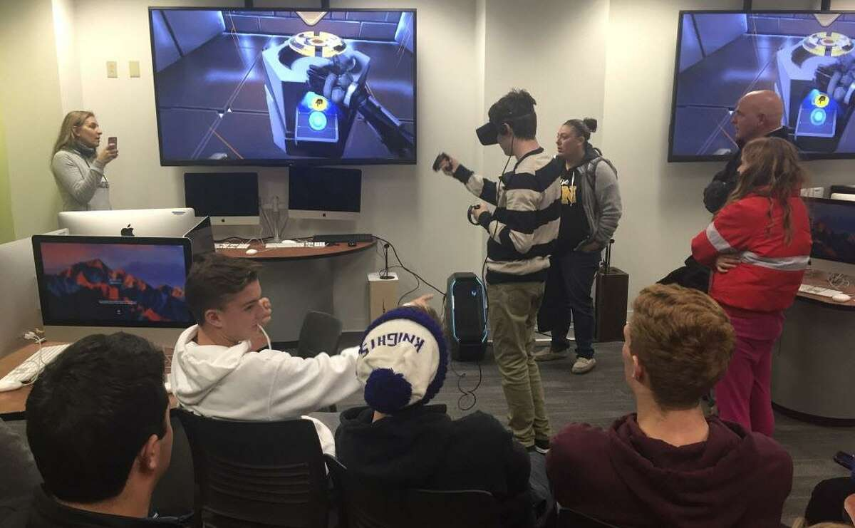 More than 70 high school seniors visited Middlesex Community College last month for a 360-Degree Learning: VR Video workshop.